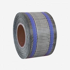 Banda de refuerzo hibrida de carbono y fibra de vidrio - hilos azules, 80mm