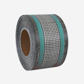 Hybrid mixed carbon and fiberglass reinforcement tape - blue color traces, 80mm