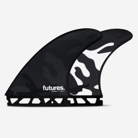 Thruster fins - Jordy SMITH RTM Hex Black/White Camo design - L, FUTURES.