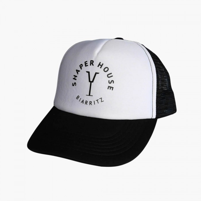 Casquette Trucker Shaper House - Black & white