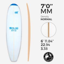 7'0'' MM Egg / Evolutive - Blue Density - latte 4mm Obs SURFBLANKS