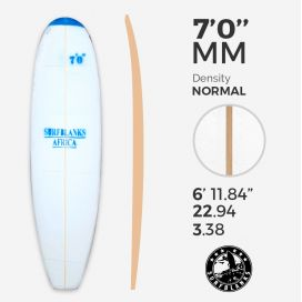 7'0'' MM Egg / Evolutive - Densidad Azul - costilla 4mm Obs, SURFBLANKS