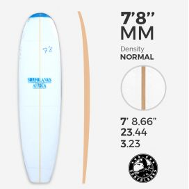 7'8'' MM FAT Egg / Evolutive - Blue Density - 6mm Obs stringer, SURFBLANKS