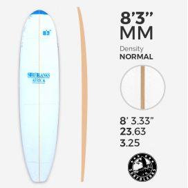 8'3'' MM Malibu - Blue Density - latte 6mm Obs SURFBLANKS