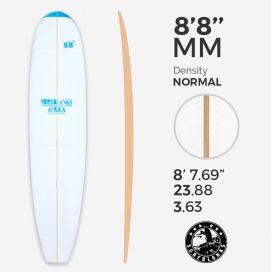 8'8'' MM Malibu - Blue Density - latte 8mm Obs SURFBLANKS