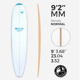 9'2'' MAL Longboard - Densidad Azul - costilla 8mm Obs, SURFBLANKS