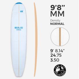 9'8'' MAL Longboard - Densidad Azul - costilla 8mm Obs, SURFBLANKS