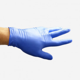 Par de guantes de nitrilo, color azul, talla 7/8 mediana