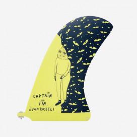 """CAPTAIN FIN CO - Longboard Pivot Fin - Evan Rossel 10"""" - Yellow"""