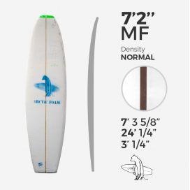 7'2'' MF Fish - 3/16'' Red Cedar stringer - Green density, ARCTIC FOAM