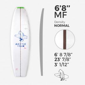 6'8'' MF Fish - Green density - costilla de 1/8'' Red cedar, ARCTIC FOAM