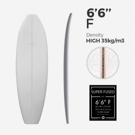 EPS Foam Super Fused 6'6'' Fish, 1/8'' Ply stringer