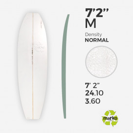 "7'2'' Thick EPS - 7'2'' x 24"" x 3,6"", 1/8'' Ply stringer, MARKO FOAM"