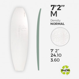 "7'2'' Thick EPS - 7'2'' x 24"" x 3,6"", No Stringer, MARKO FOAM"