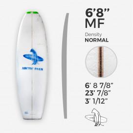 6'8'' MF Fish - Green density, ARCTIC FOAM