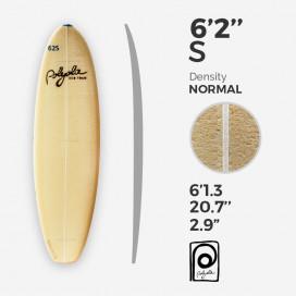 6'2'' S Shortboard - 4mm Ply stringer, POLYOLA