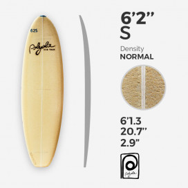 6'2'' S Shortboard - costilla 4mm Ply, POLYOLA