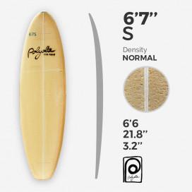 6'7'' S Shortboard - 4mm Ply stringer, POLYOLA