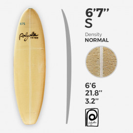 6'7'' S Shortboard - costilla 4mm Ply, POLYOLA