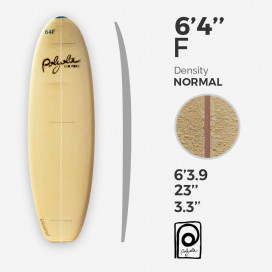 6'4'' F Fish - 4mm Cedar stringer, POLYOLA