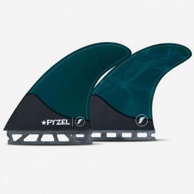 Quillas 5 fins - Pyzel Large Hex Pacific Blue, FUTURES.