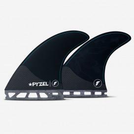 5 fins set - Pyzel Medium Hex Black, FUTURES.