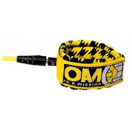 OAM - On A Mission-INVENTO 6'0'' Comp - Amarillo Houndstooth leash - para tablas de surf