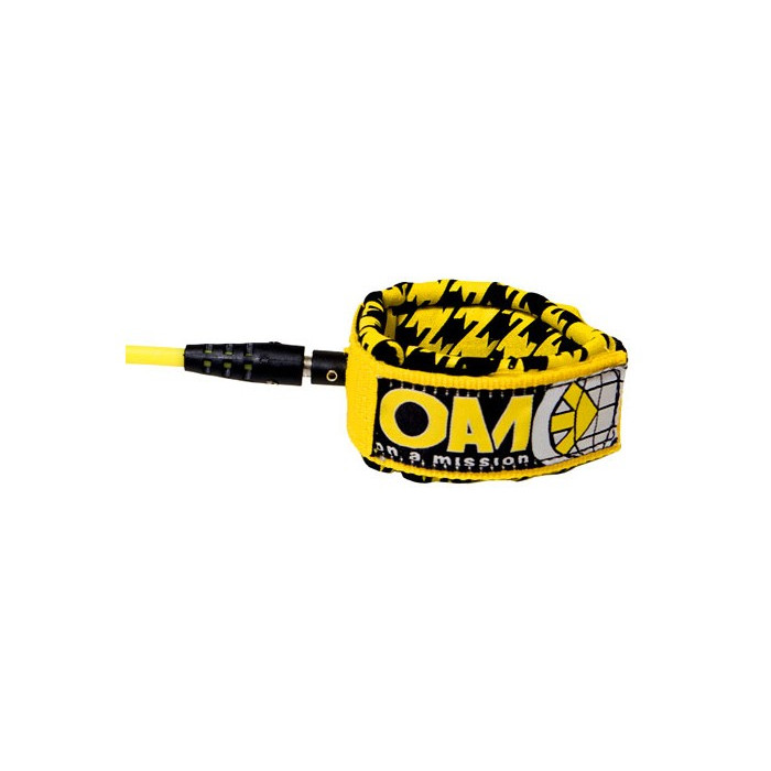 OAM - On A Mission-COMP LEASH 6'' - Jaune Houndstooth