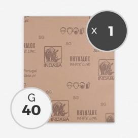 Papier à poncer à sec - grain 40 (1 feuille), INDASA