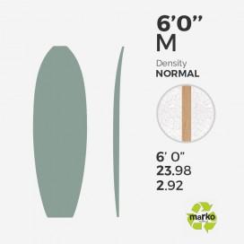 6'0'' M EPS - 6'0'' x 24'' x 2,92'' - latte 4mm Bass, MARKO FOAM