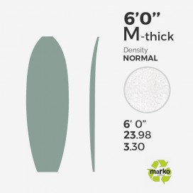 6'0'' M Thick EPS - 6'0'' x 24'' x 3,30'', No Stringer, MARKO FOAM