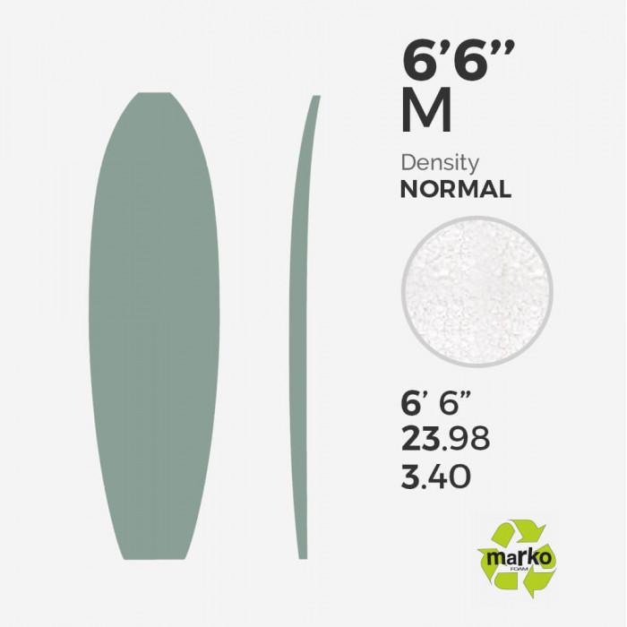 6'6 M EPS - 6'7'' x 23.98'' x 3.4'' - sans latte, MARKO FOAM