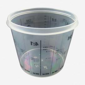 PLASTIC GRADUATED CUP - 1.4L