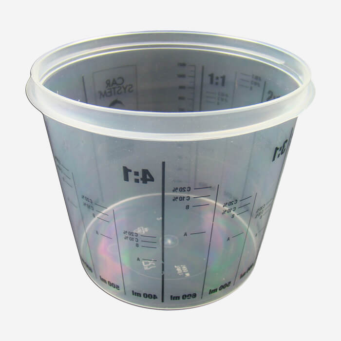 Pot en plastique et gradué, pour mélanges - 1.4L