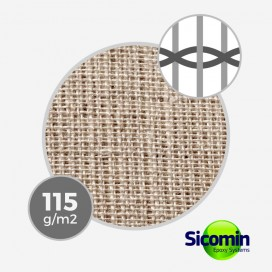 Tissu de lin taffeta 115 gr/m² - largeur 81,50 cm, SICOMIN