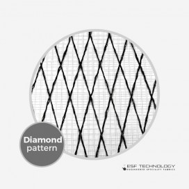 "Tissu de renfort Vector Net XP 226 - 1"" Diamond Pattern (50cm), ESF TECHNOLOGY"