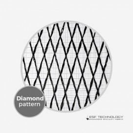 "Tissu de renfort Vector Net XP 227 - 1/2"" Diamond Pattern (50cm), ESF TECHNOLOGY"