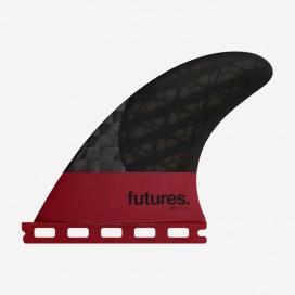 4.15 QD2 rear fins Blackstix 3.0 Violet / Carbon, FUTURES.