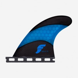3.75 QD2 rear fins Techflex blue, FUTURES.