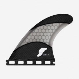 4.15 QD2 rear fins Techflex smoke, FUTURES.