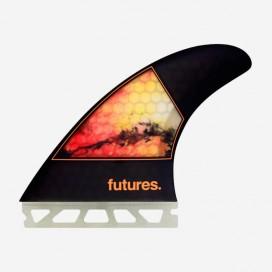 Dérives Thruster - Jordy SMITH RTM Hex orange design - M, FUTURES.