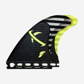 Dérives Thruster - FMB2 LOST RTM Hex black-neon yellow-carbon, FUTURES.
