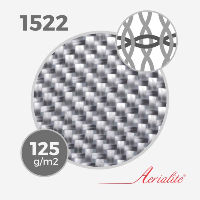 Tissu de fibre de verre ref 1522 - 4 Oz (125 grs) - largeur 65cm, AERIALITE