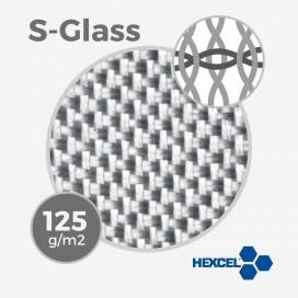 Tissu de fibre de verre S ref S-GLASS - 4 oz - 125 gr/m - largeur 76cm, HEXCEL