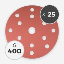 Disque à poncer - diam. 150mm - grain 400 (25 disques), INDASA