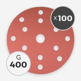 Disque à poncer - diam. 150mm - grain 400 (boîte de 100 disques), INDASA