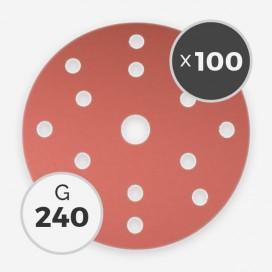 Disque à poncer - diam. 150mm - grain 240 (boîte de 100 disques), INDASA