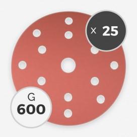 Disque à poncer - diam. 150mm - grain 600 (25 disques), INDASA