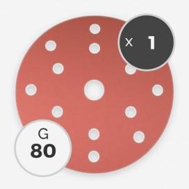 Disque à poncer - diam. 150mm - grain 80 (1 disque), INDASA