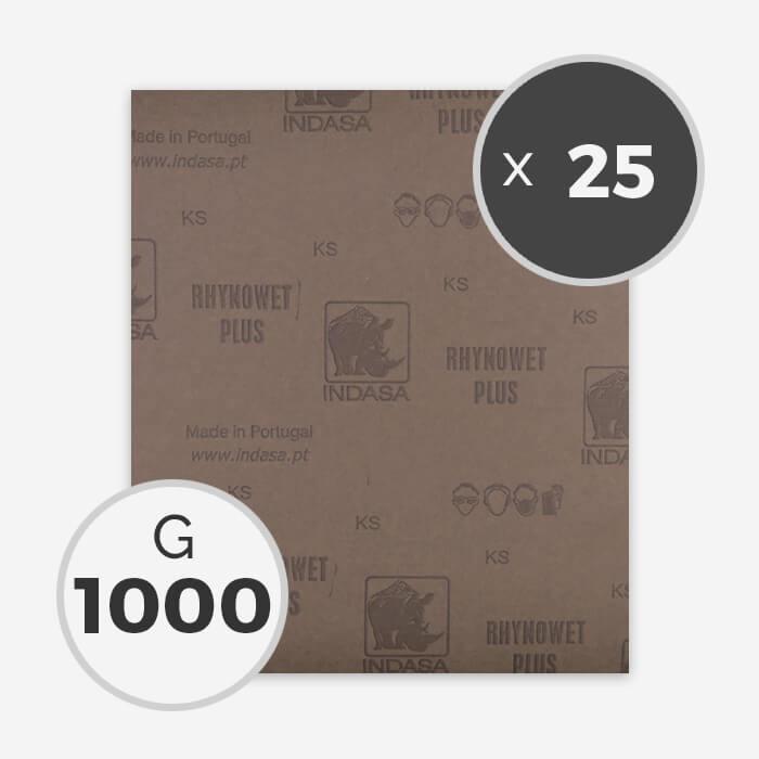 PAPEL DE LIJA AL AGUA - GRANO 1000 (25 HOJAS)